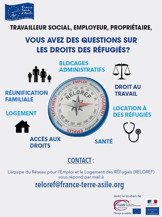Projet européen RELOREF, réseau pour l'emploi et le logement des réfugiés