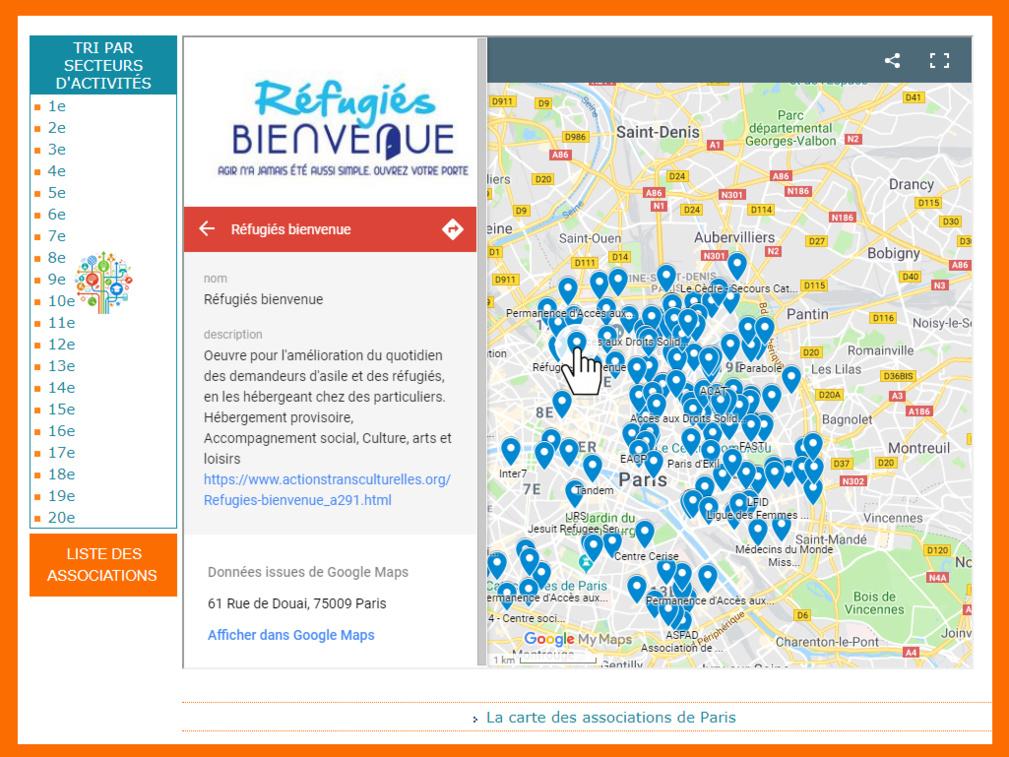 Naviguer avec la Google Map sur Actionstransculturelles.org