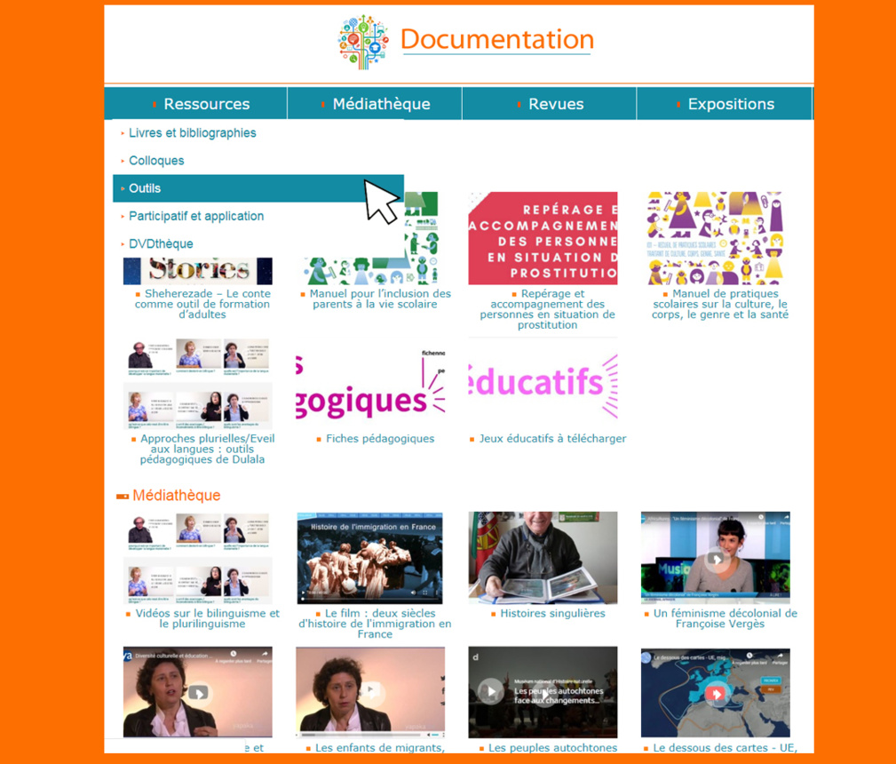 Ouverture d'une section Documentation