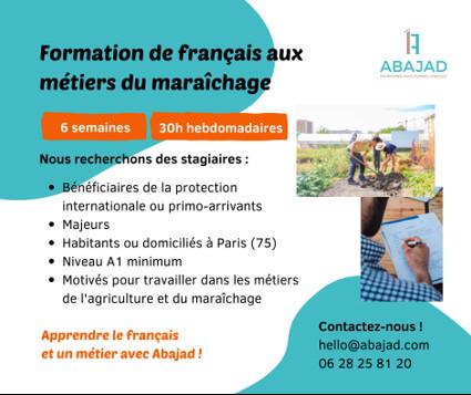 Abajad - Formation aux métiers du maraîchage