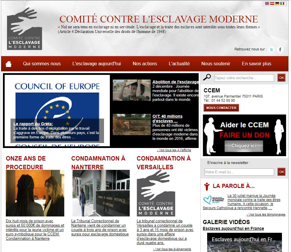 Comité Contre l'Esclavage Moderne, CCEM