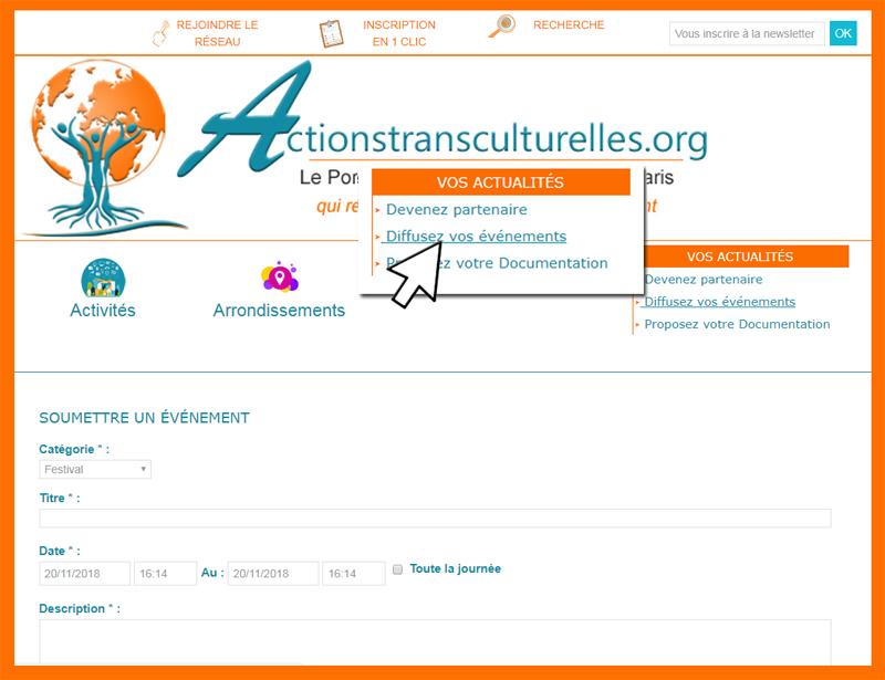 Nouveauté : Vos Agendas sur Actionstransculturelles.org