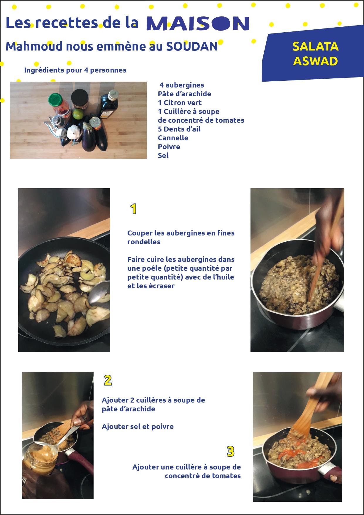 Les recettes de la Maison