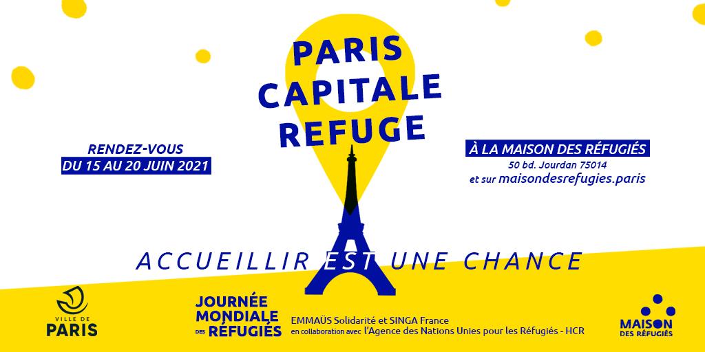 Jeudi 17 juin : Paris Capitale Refuge, accueillir est une chance
