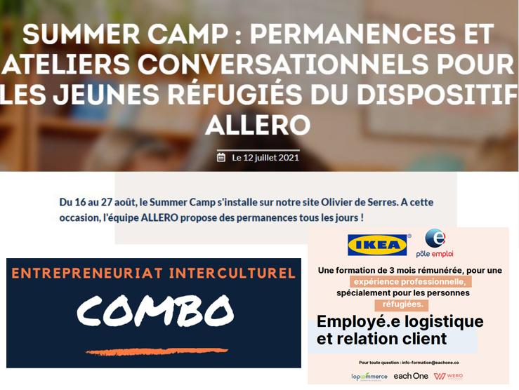 Les actualités de l'été de la Maison des réfugiés