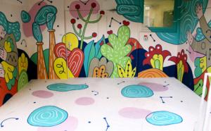 Fresque participative de la Maison