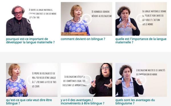 Vidéos sur le bilinguisme et le plurilinguisme