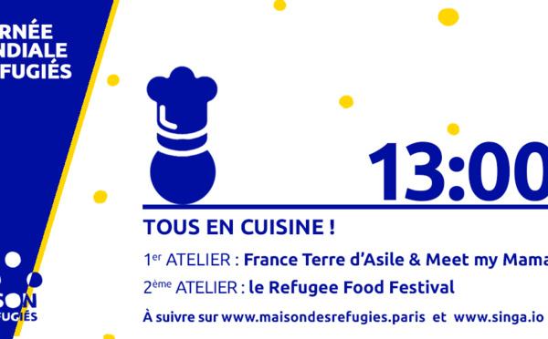 """Recette """"anti-gaspi"""" de pudding aux fruits secs, caramélisé au thym, Refugee Food Festival"""