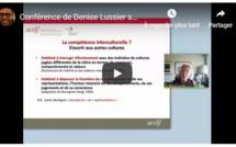 Conférence de Denise Lussier sur Les compétences culturelles, interculturelles et transculturelles